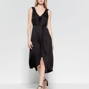 Joie Black Ruffle Wrap Dress